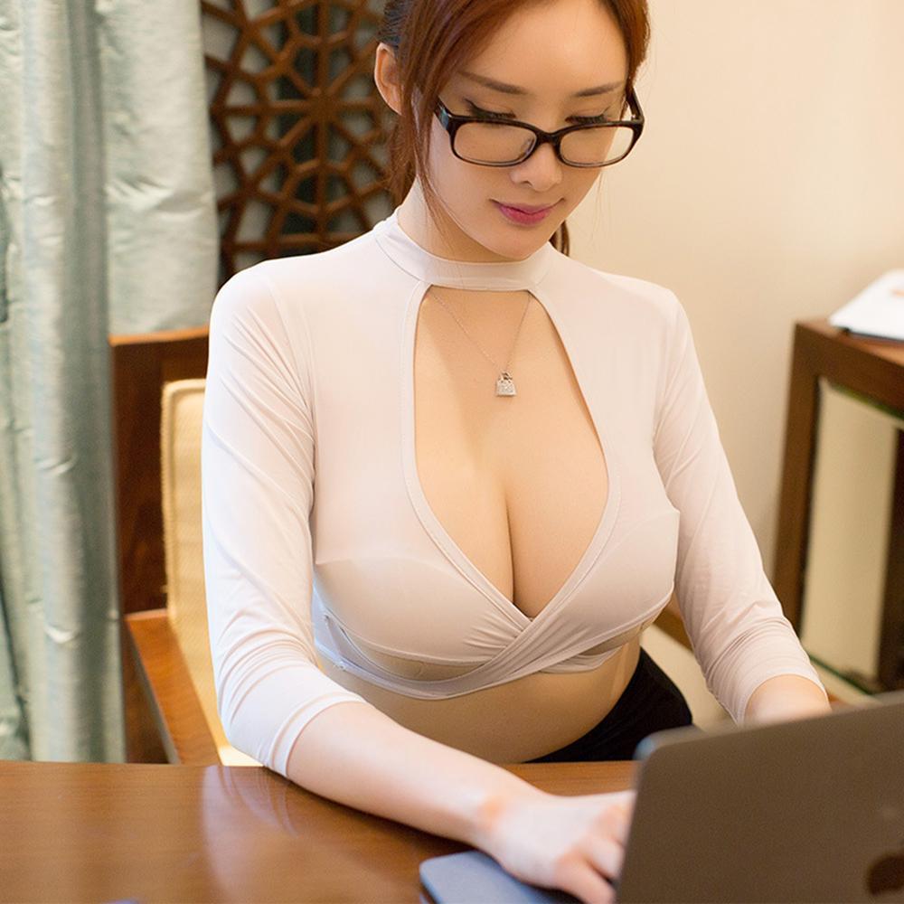 Sexy donne segretario uniforme vestito lingerie top mini gonna set costumi erotici ufficio Lady Cosplay