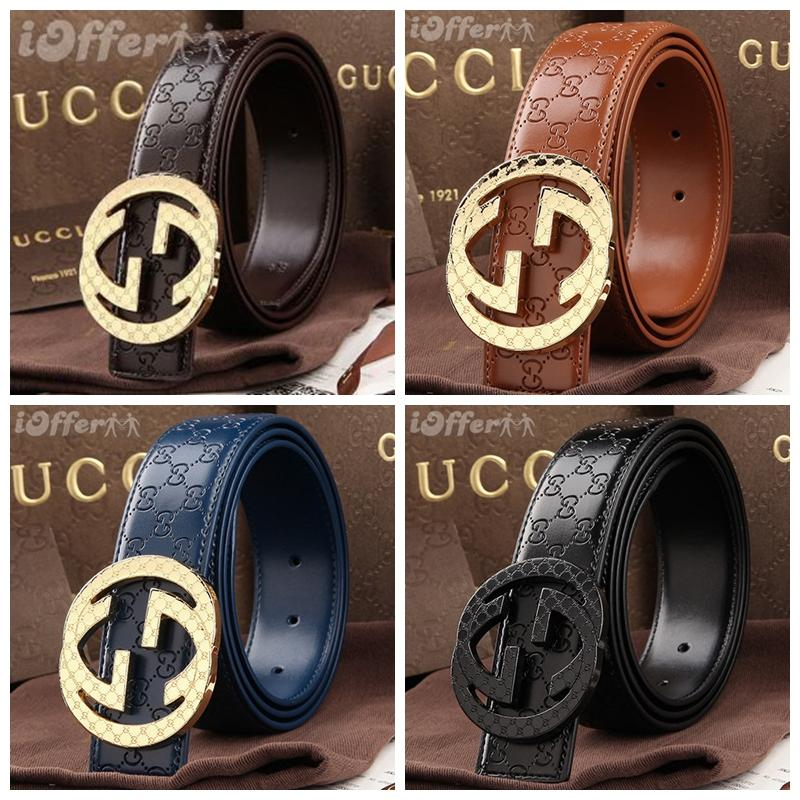 2019 NEW GUCCI belt Letter pattern Men and women belt a lot of colors Can  bring a box Paired with a variety of bags fashion