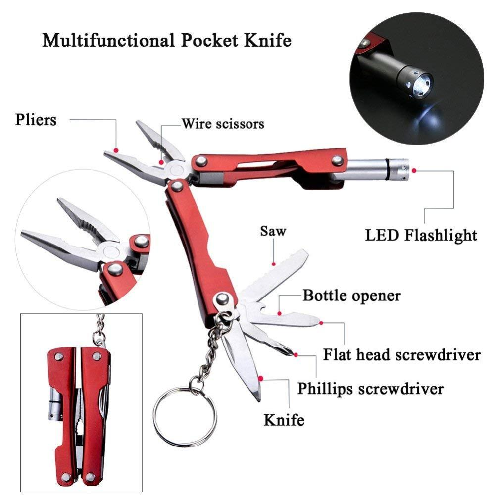 Survival Outdoor Equipment Emergency Bag EDC Multi-tool Gadgets Tools 6 In I Self-help Survival Kit SOS for Camping Hiking (2)