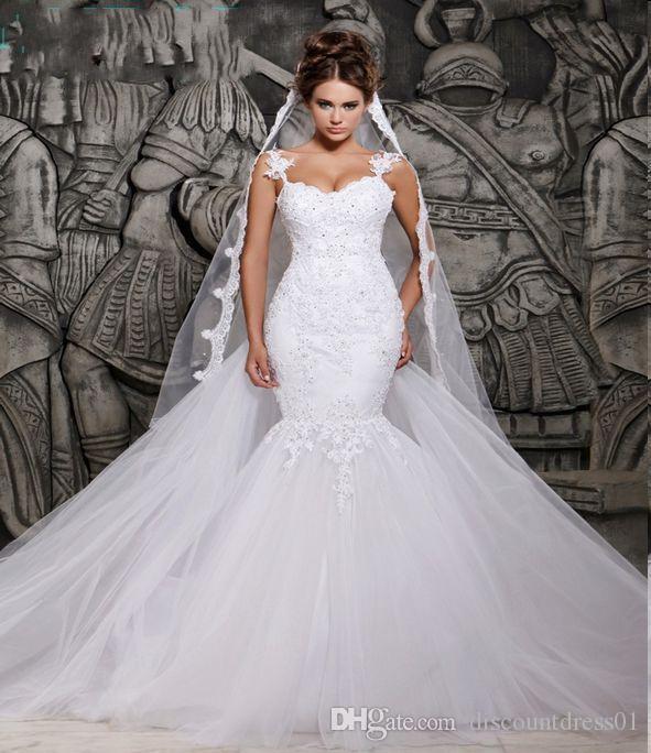 Black Wedding Dress With Detachable Train: Plus Size Wedding Dress Gowns With Detachable Train
