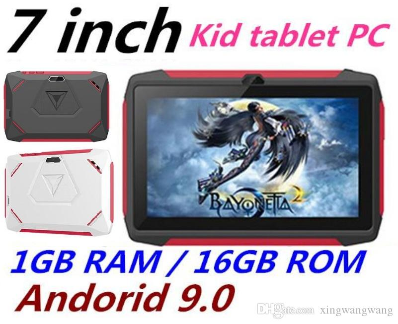 Newest kid Tablet PC Q98 Quad Core 7 Inch 1024*600 HD screen Android 9.0 AllWinner A50 real 1GB RAM 16GB Q8 with Bluetooth wifi factory