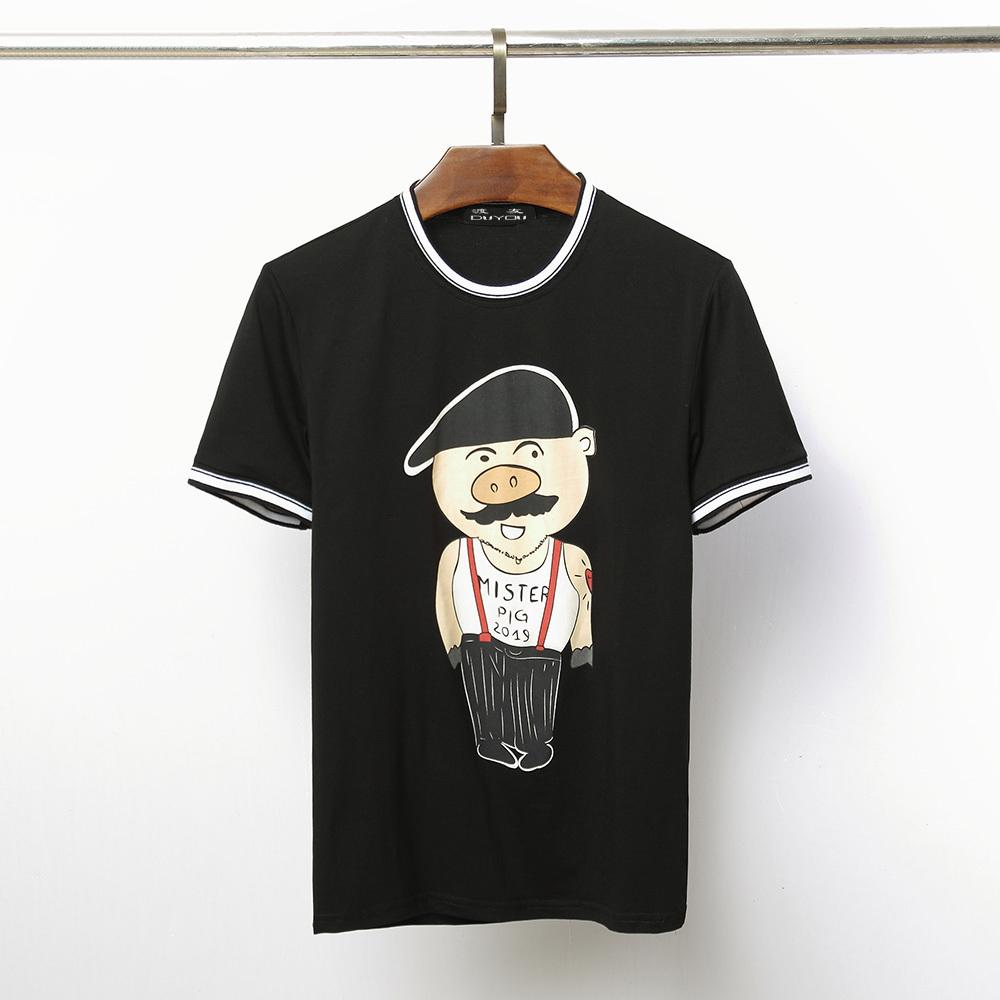 f537a9c43016 Duyou New Short Sleeve T Shirt Mens Brand Clothing Fashion Mister Pig 2019  Print Tshirt Pure Cotton Quality T Shirt Men C19022301 T Shirts With Prints  ...