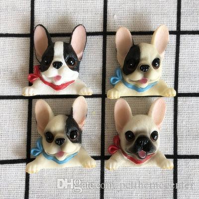 Mini French Bulldog Model Fridge Magnets 3d Animal Magnetic Sticker