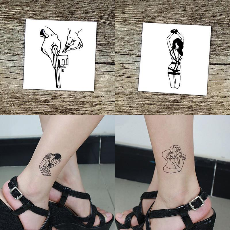 35d6cf69d 2018 Temporary Tattoos Stickers Little Vintage Old School Style Waterproof  Temporary Body Decals Tattoos Stickers D19011202 Temporary Tribal Tattoos  Unique ...
