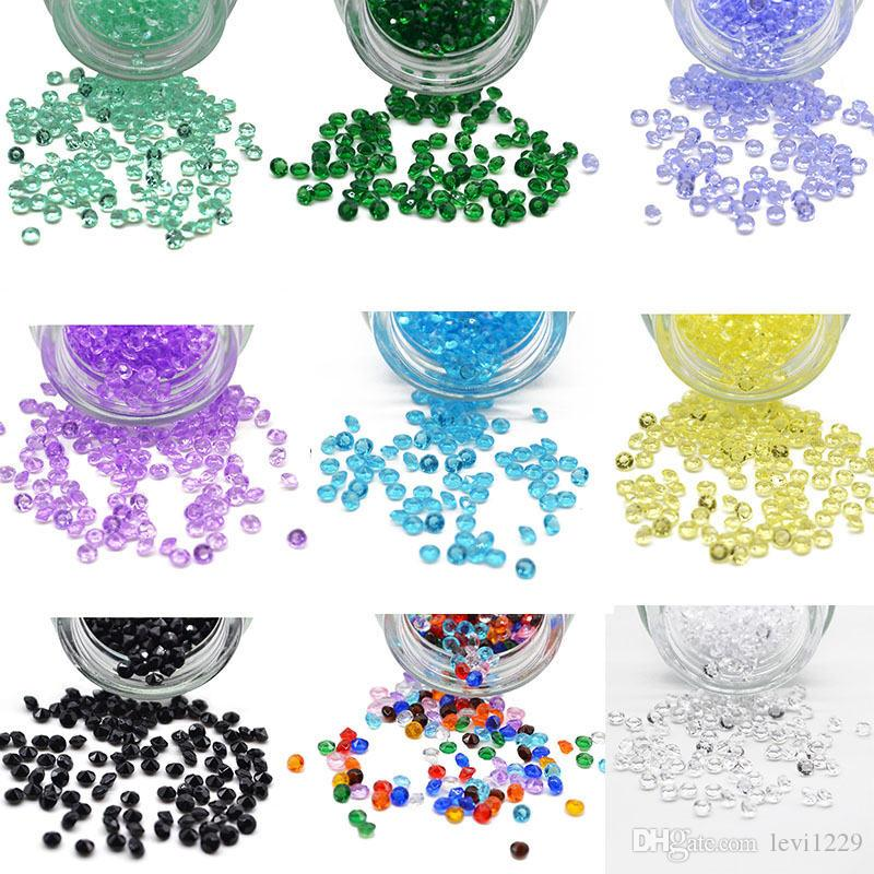 Candy Colors-1000pcs 4.5mm Diamond Confetti Vase Filler Party-Decoration Weddings Acrylic-Bead Wedding Party Bridal Shower Table Scatter 067