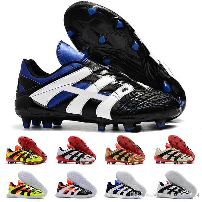 3b3d5fe6972 2019 Predator Accelerator Soccer Boots Electricity FG 98 Classic Football Boots  Soccer Cleats Shoes Size US 6.5 11 UK 2019 From Footlockersale4