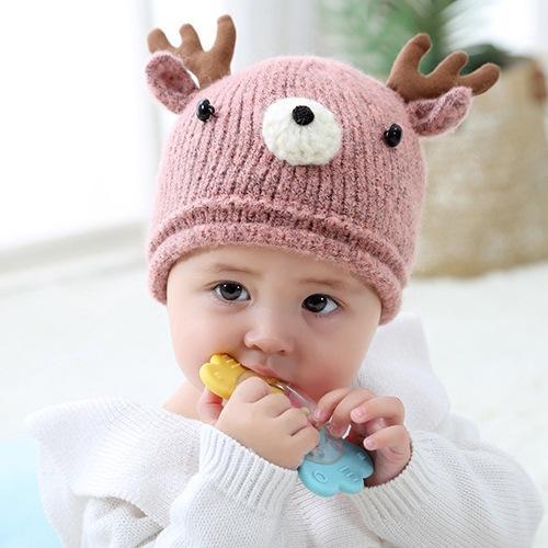 0aed2e94 2019 Baby Small Deer Wool Warm Hat Colorful Types Soft Cute Winter Cartoon Hat  Knit Fur Cap Boys Girls Good Kids Gifts LJJQ192 From Kids_dress, ...