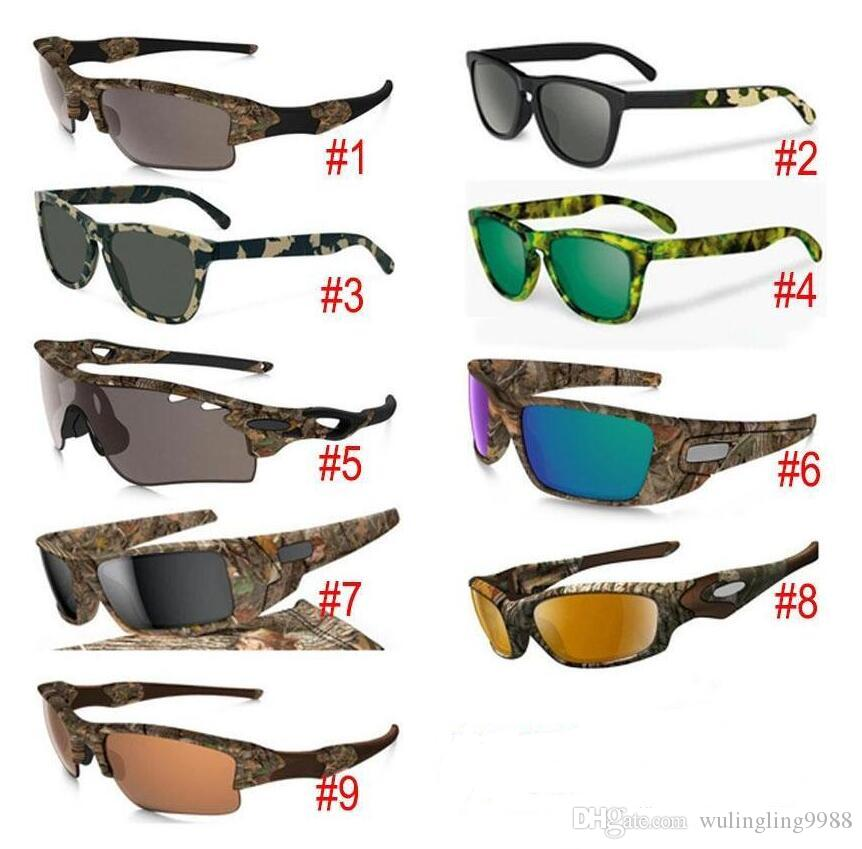 New Camouflage Camo Sun Glasses Designer Sunglasses sunglasses Eyewear Sun glass frame sunglasses 9 models with zipper case packages