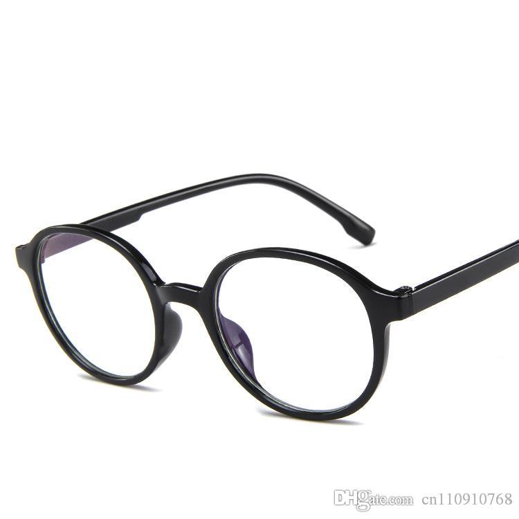 da2b532e56 Compre Forma Redonda Marco De Anteojos Gafas Con Lentes Transparentes Rosa  Jalea Forma Vintage Plástico Diseñador Coreano CE FDA RA55 A $2.53 Del ...