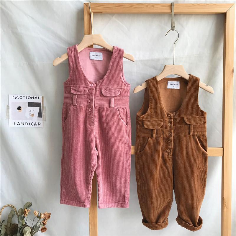 83bf76be5dd Corduroy Boys Girls Overalls For Winter Fall Toddler S Jumpsuit Children S  Clothing Suspender Outfit For Baby Pink Suspenders For Kids From Cynthia10