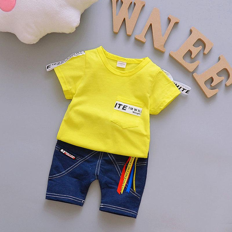 3b84efa64dcb 2019 Kids Boys Summer Clothes Sets Letter Short T Shirt + Pants Fashion  Toddler Boy Clothing Casual Kids Outfits Baby From Zerocold01