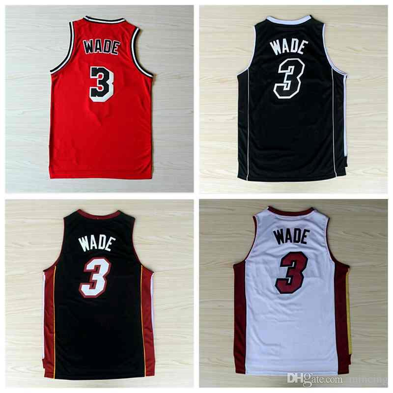 new arrivals 6ed11 1e1c7 Stitched Dwayne Wade Jersey 2016 New 3 Dwyane Wade Basketball Jersey 3  Dwayne Wade Shirt Fast Free Shipping