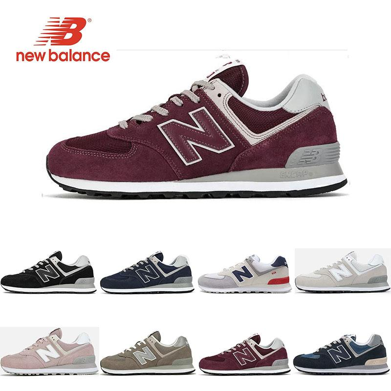 top quality best cheap the cheapest New Designer 574 Running Shoes for Men Triple Black White Pink ...