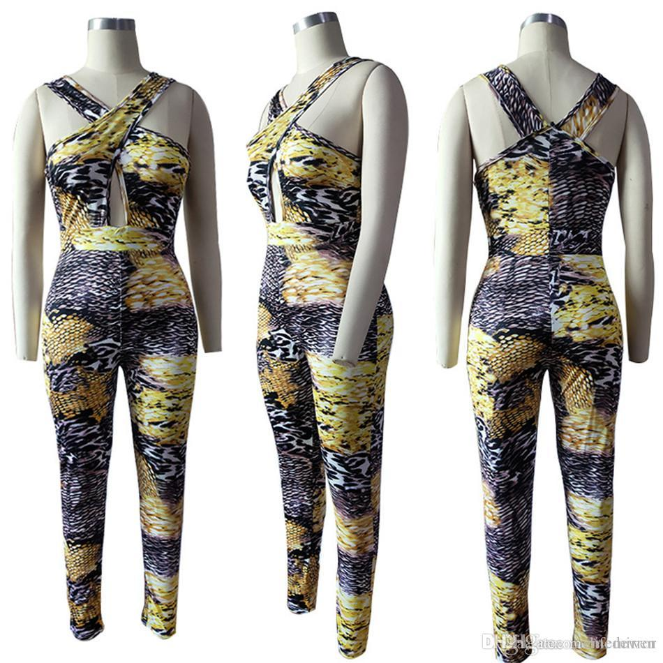 771706ab3e71 Sexy Cross Hollow out Jumpsuits Leopard Print Sexy Leisure Jumpsuits Women  Romper NB-887 Bodysuit Swimwear Beach Wear Online with  47.91 Piece on ...