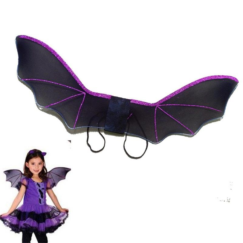 Halloween Bat Wings Children Bats Shape Clothes Child Purple Black Silk Stockings Wing Accessories New Arrival 3 2jw L1
