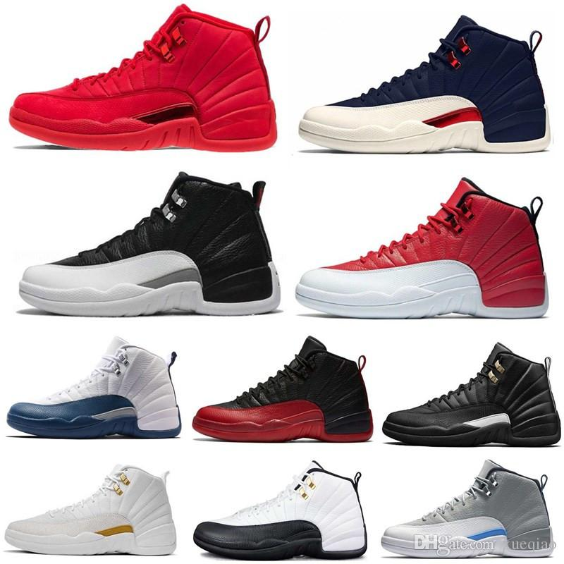 0dbd1ff1943f2e High Quality 12 12s OVO White Gym Red Master Mens Basketball Shoes Men  Women Taxi Blue Suede Flu Game Olive Sports Shoes Sneakers Walking Shoes  Shoes ...