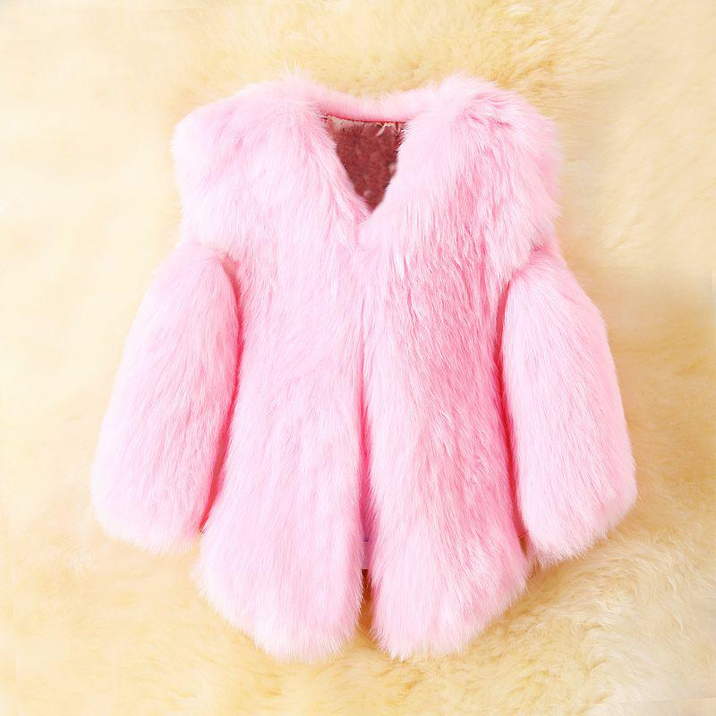 Girls Faux Fox Fur Vest 2019 Brand Winter Warm Kids Fur Vests for Girls Coat Fashion Baby Girl Jacket Children Outerwear 3Colors