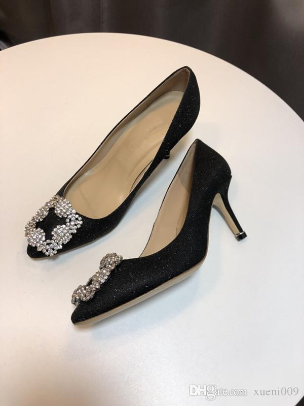 HOT! 2020 Designer High Heels Women Shoes Nude Black Spikes Pump Patent Leather Lady Shoes Summer yc19031216