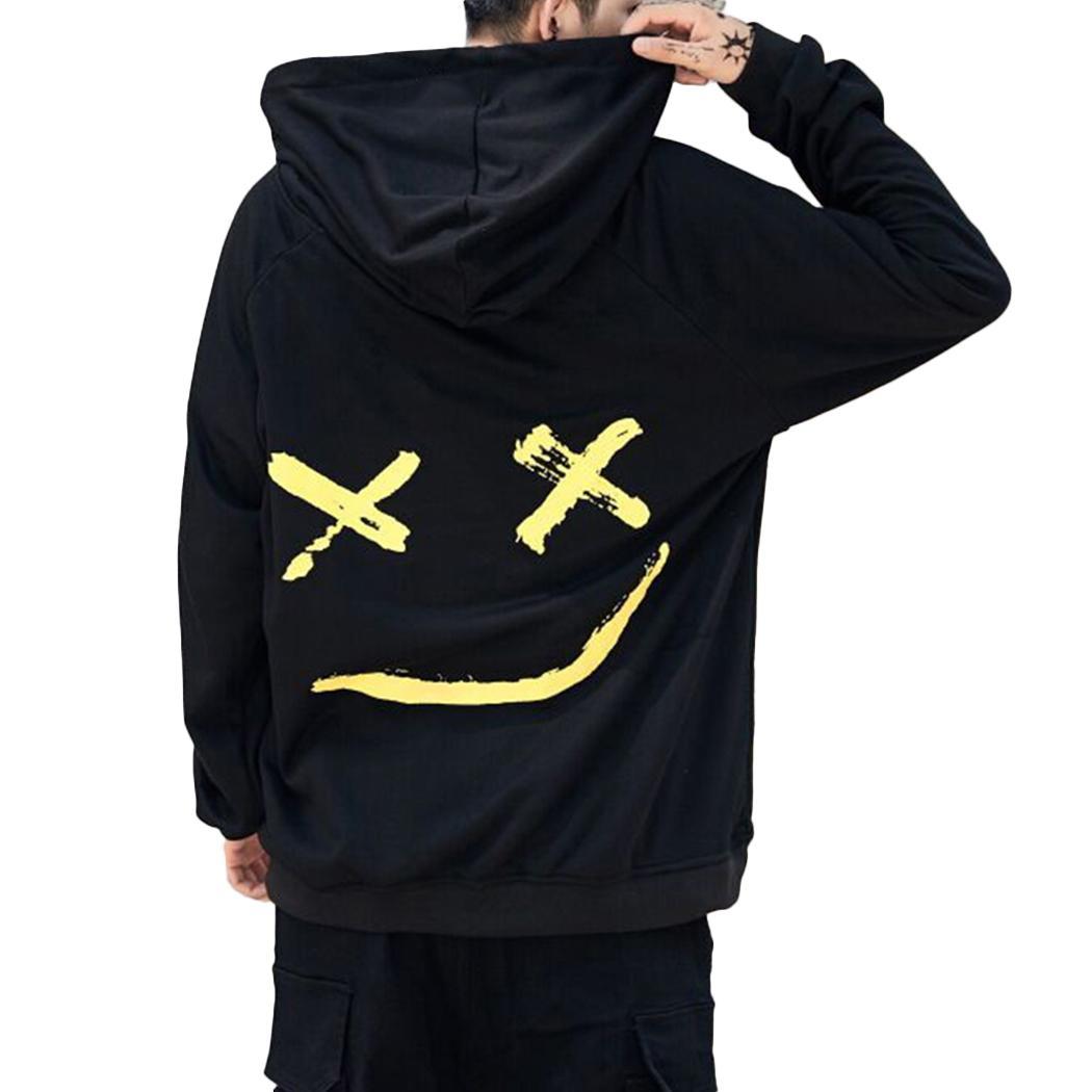 Compre 2019 Moda Hombre Sudaderas Con Capucha Tops Harajuku Sonrisa Impreso  Sudadera Con Capucha Streetwear Sudadera Con Capucha Hip Hop Masculino Más  El ... b2071142017