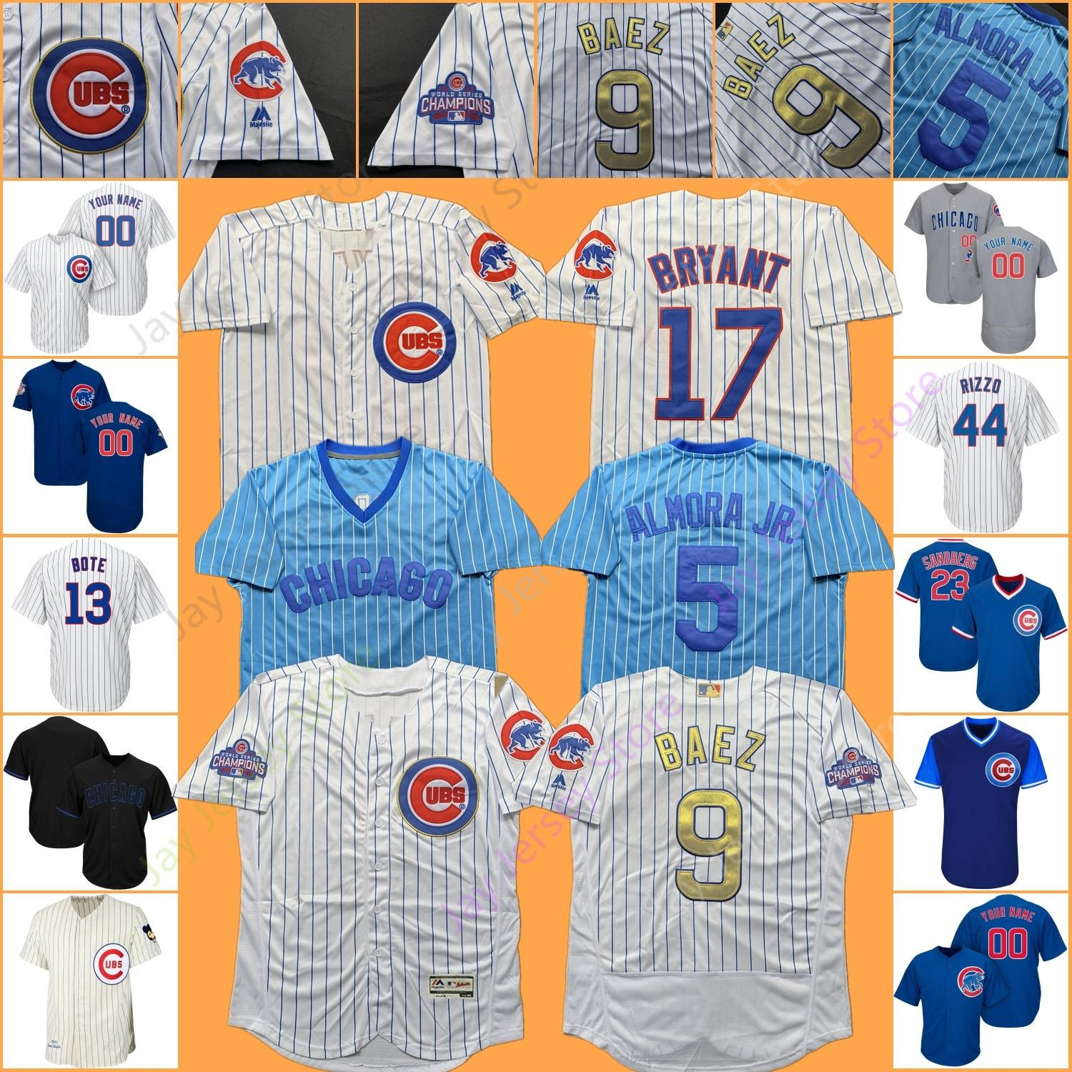 buy popular 150e8 28e4b Chicago Custom Cubs Jersey Javier Baez David Bote Kris Bryant Anthony Rizzo  Addison Russell Albert Almora Jr. Jason Heyward Kyle Schwarber