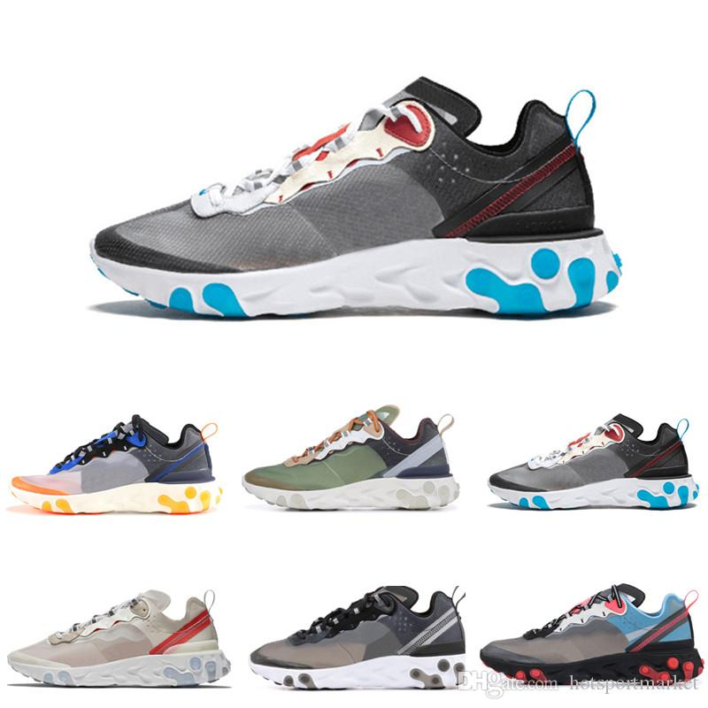 2b99393825ed Compre Epic React Element 87 55 Undercover Men Running Shoes For Women  Designer Sneakers Sports Mens Trainer 55s 88s Sail Light Bone Sneakers 36 45  A  62.95 ...