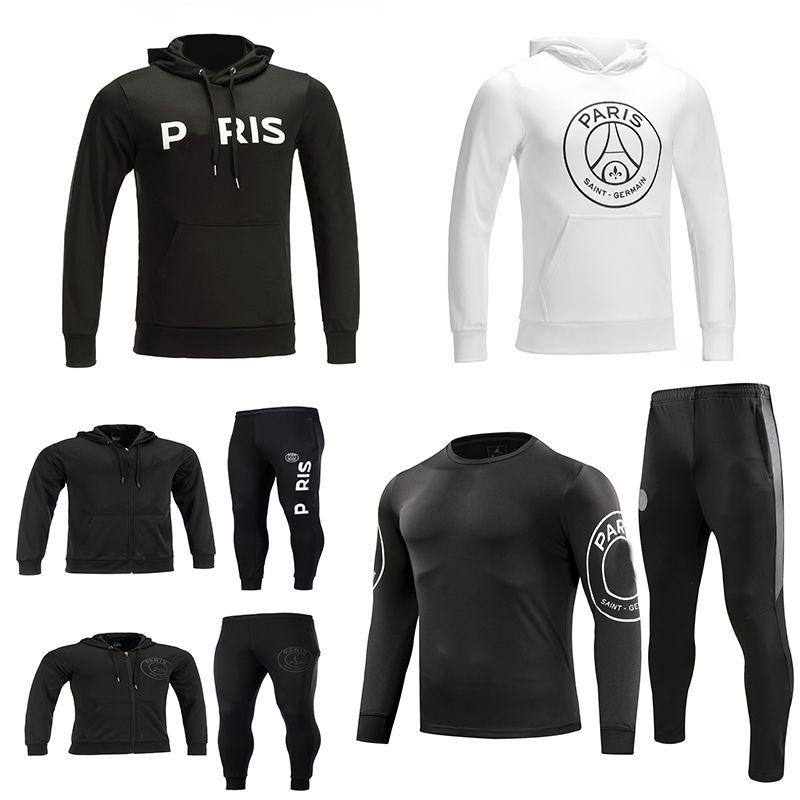 0804ee917 2019 2019 MBAPPE RONALDO Third Hoodie PSG Soccer Training Suits Paris 18/19  Survetement CHAMPIONS LEAGUE Jacket Tracksuit CAVANI Football Shirts From  ...