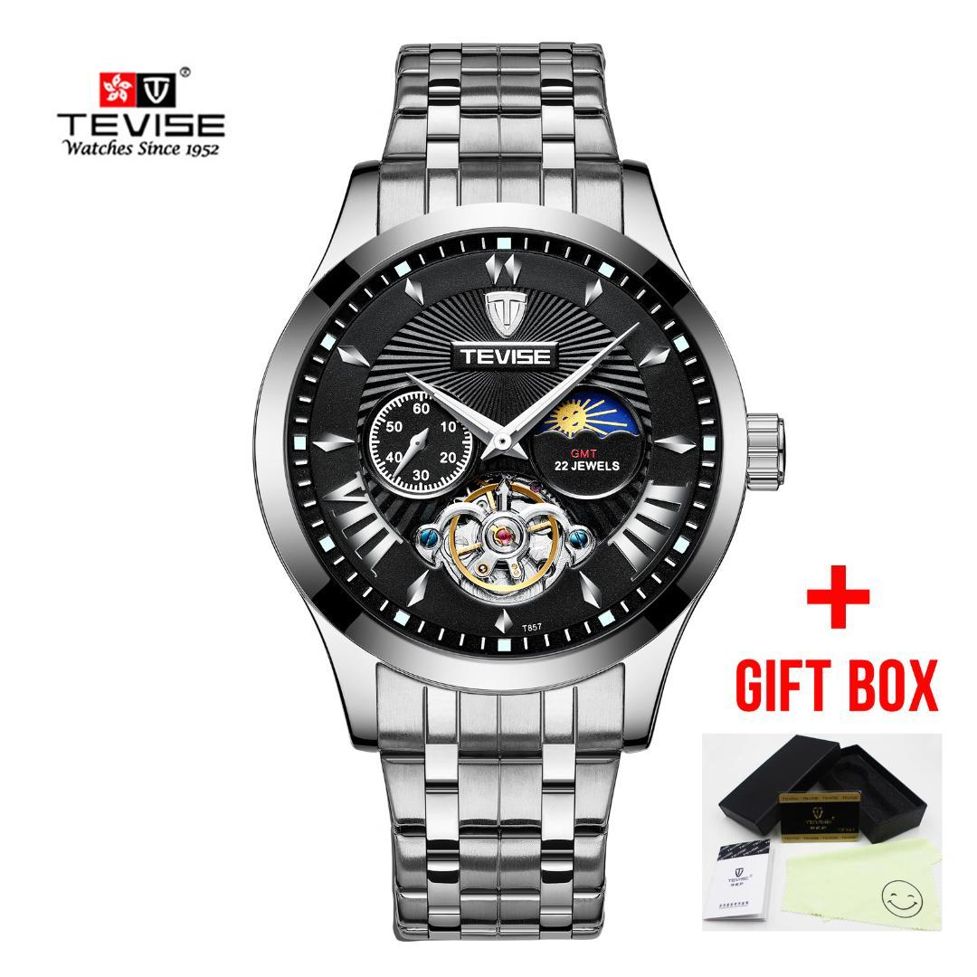 b1c202cdc40 Mens Automatic Mechanical Watch Fashion Top Brand Tevise Sports Watches  Hollow Waterproof Clock Relogio Masculino Watch Buy Buy A Watch From Ekkk