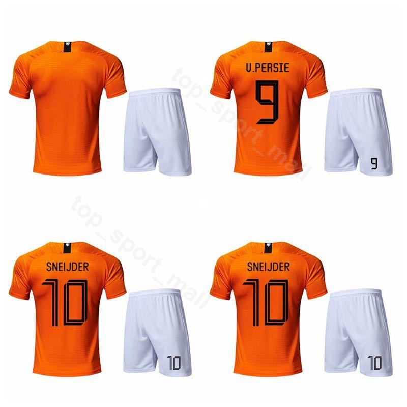 info for c6c80 de58b 2020 Netherlands Soccer 9 Robin van Persie Jersey Set 4 Virgil van Dijk 10  Wesley Sneijder 19 Wout Weghorst Football Shirt Kits Uniform
