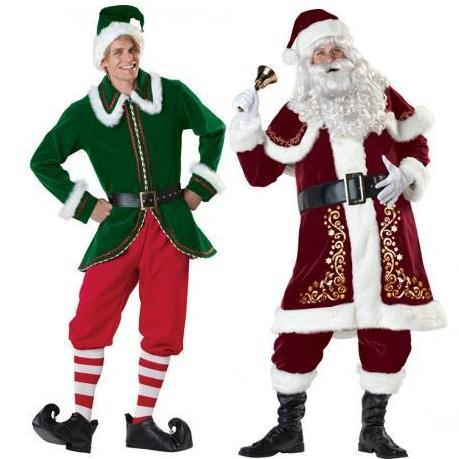 A Full Set Of Christmas Costumes Santa Claus For Adults Red Christmas Clothes Santa Claus Costume Luxury Suit