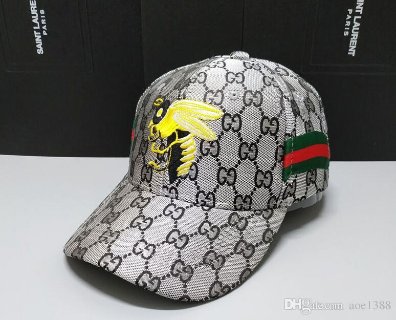 a4a6b21f1ffef 2019 Ball Cap Unisex Spring Autumn Gucci Snapback Bee Baseball Hats ...