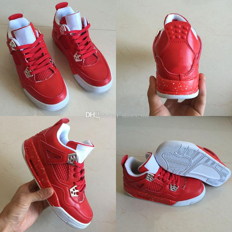 hot sales 42510 c48fb 2019 4s SINGLES DAY NRG Retro Basketball Shoes Tattoo RED GUM BOTTOM  Sneaker Women High Quality 4 Trainers Shoes 36 40 From Shoes inc,  93.41    DHgate.Com