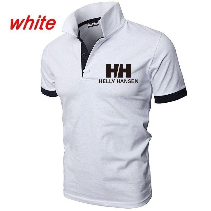 nouveau style 8bb90 4e65e Helly Hansen Hommes Polos Eté Mode Décontractée Été Décolleté Polos Col  T-shirt Couleur Unie HH