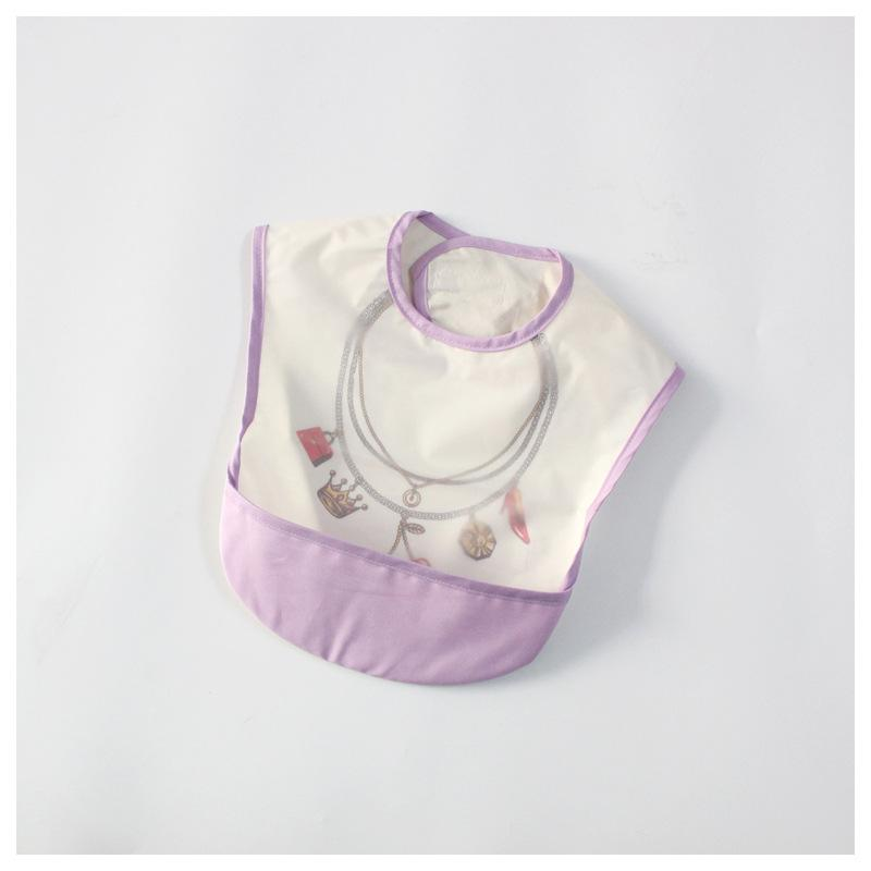 Waterproof baby food pocket Waterproof Bib infant food clothing children bib sleeveless reverse clothing