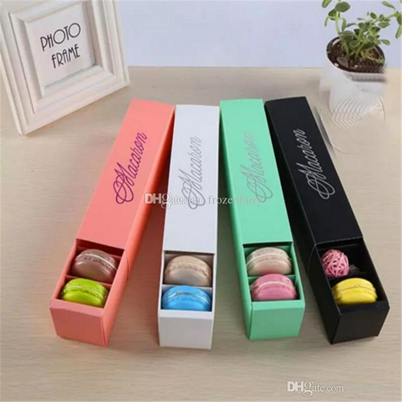 Macaron Box Cake Boxes Home Made Macaron Chocolate Boxes Biscuit Muffin Box Retail Paper Packaging 20.3*5.3*5.3cm bb544-551 2018012212
