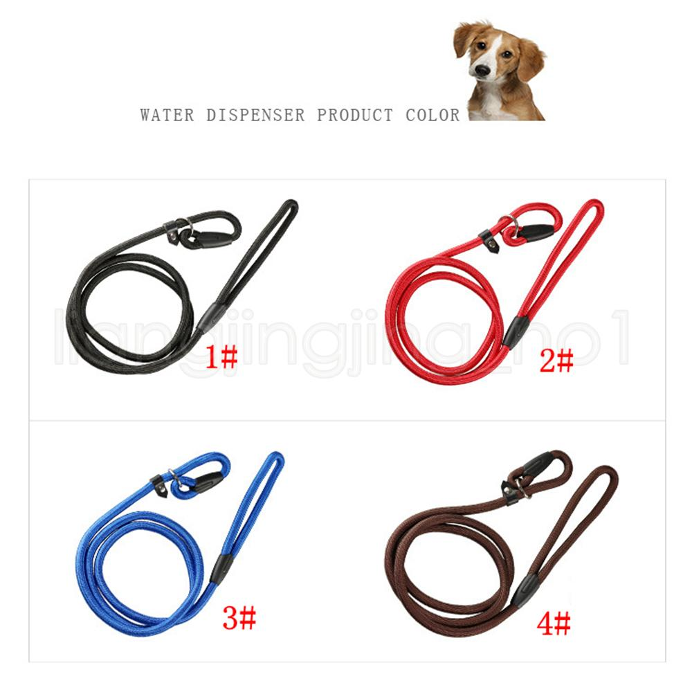 4styles Pet Dog Nylon Rope Training Leash Slip Lead Strap Adjustable Traction Collar Pet Animals Rope Supplies Accessories 0.6*130cm FFA2524