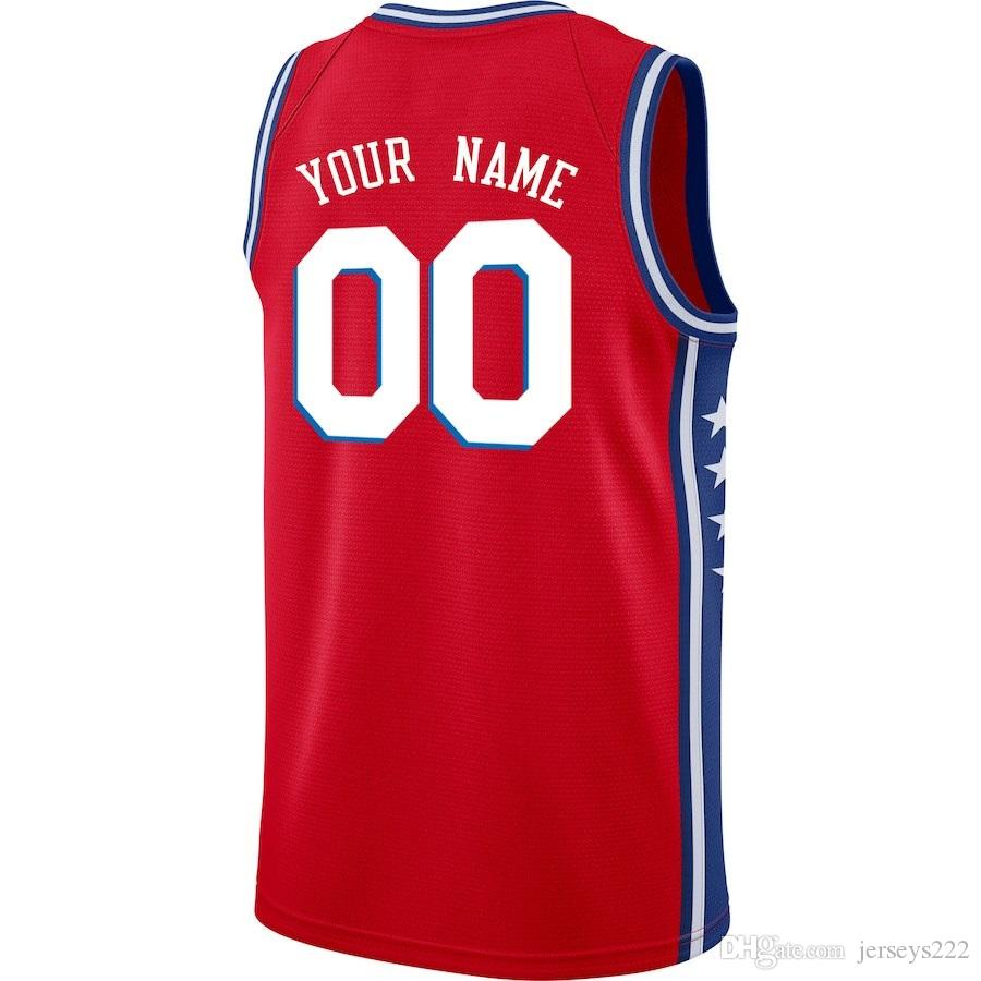 2cad8ce2d 2019 2019 Basketball Jerseys Philadelphia Mens Youth Women Kids Icon City  Edition College Authentic Replica Custom Basketball Jersey Usa 4xl 5xl From  Ca444