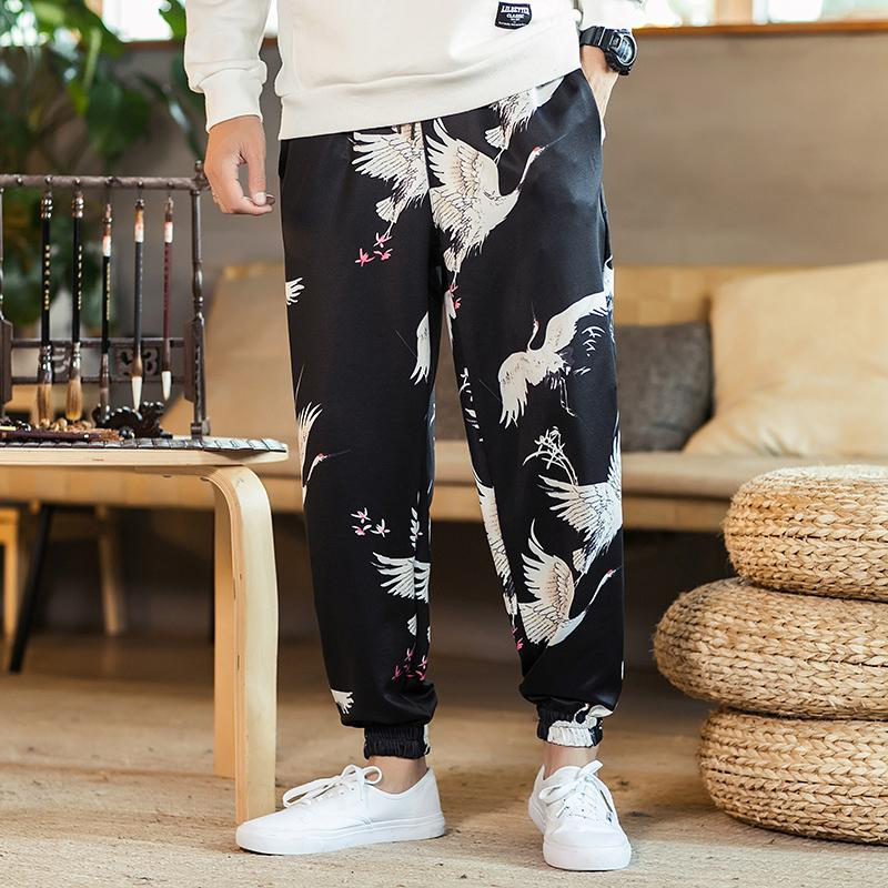 f2190bcbe25 Chinese Style Autumn Brand Loose Plus Size Mens Harem Pant High Waist New  Pants Trousers Black Men Casual Print Joggers Men S UK 2019 From Kennethy