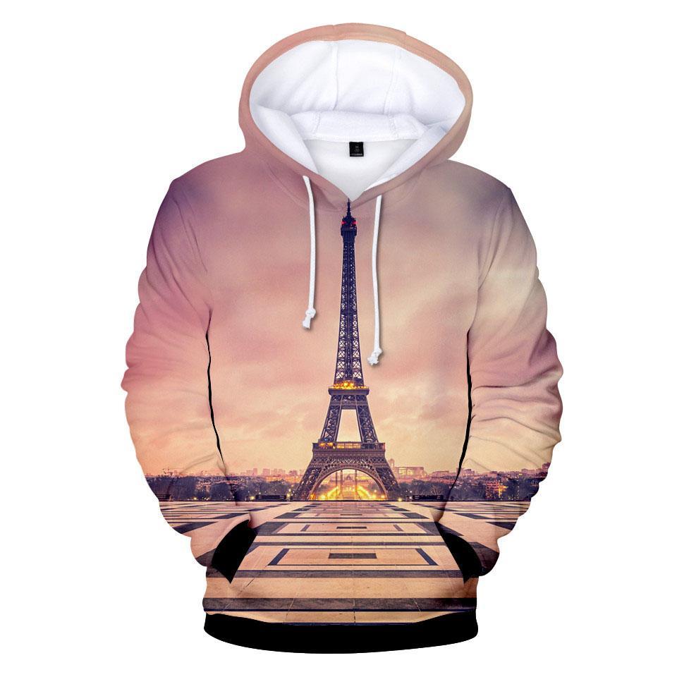 bab483820 2019 The Eiffel Tower Hoodie Sweatshirt Men Women 3D Print Casual Fashion  Hot Sale Autumn Winter Warm Long Sleeve High Quality Hooded From  Necksweater, ...