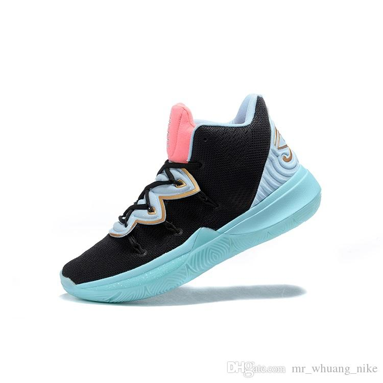 28443fcad8a Cheap womens kyrie 5 basketball shoes black Blue BHM White Purple boys  girls youth kids kyries irving v sports sneakers boots with box 7 12