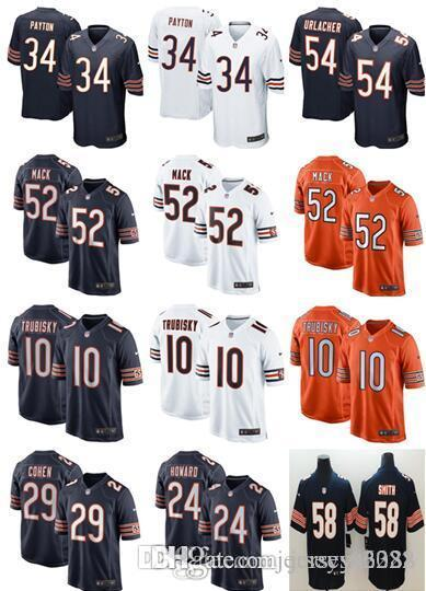 ad55e6834d43d 2019 Men'S Womens Kids Chicago Jerseys Bears #52 Khalil Mack 10 ...