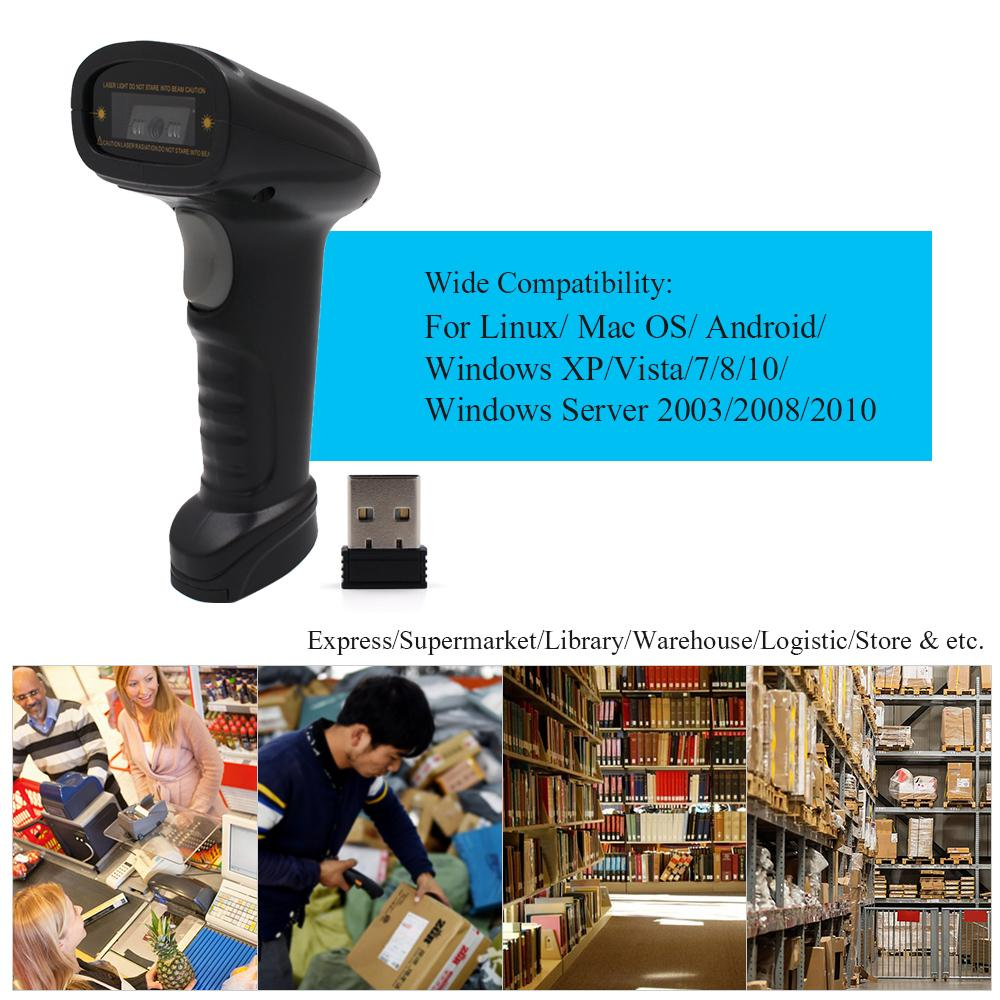Aibecy Handheld 2 4G Wireless USB Wired 1D Barcode Scanner CCD Bar Code  Reader for Windows Mac Android OS