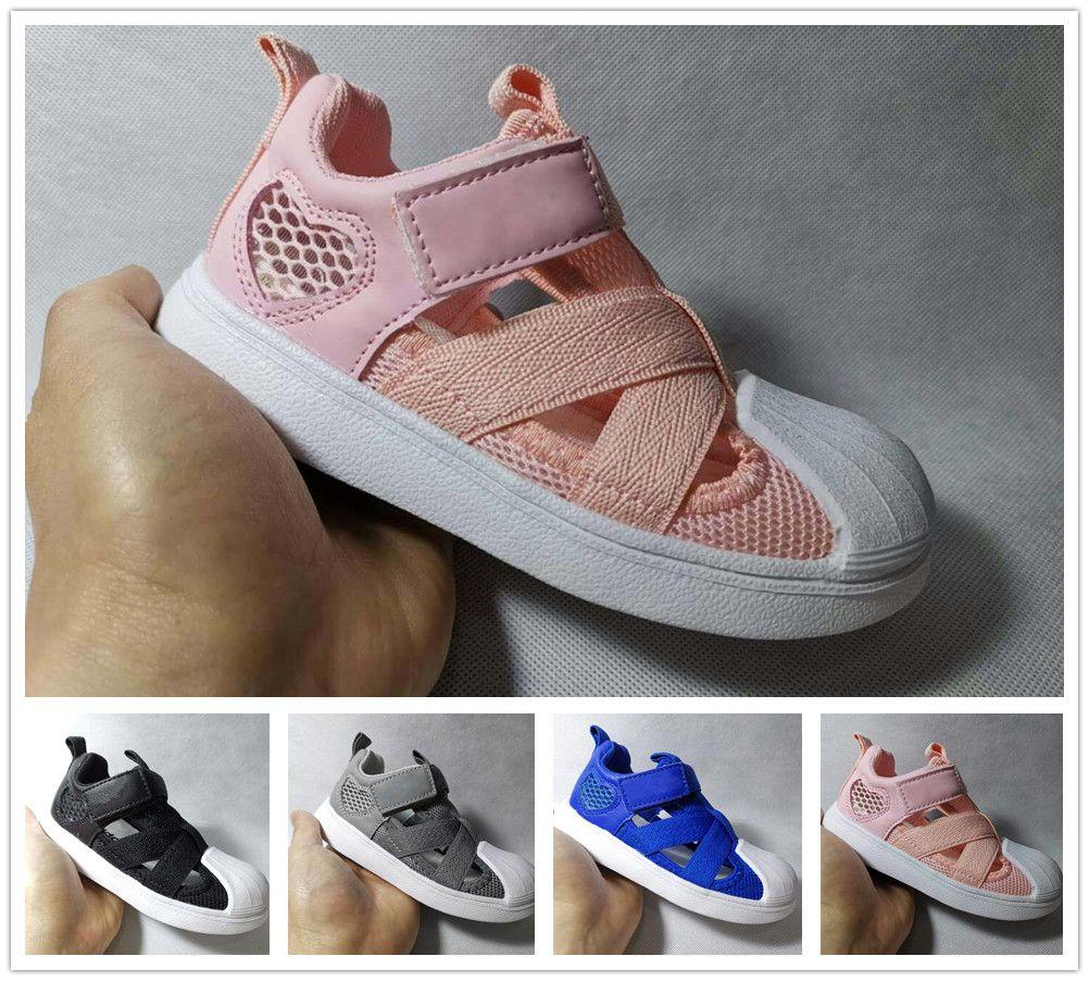 Adidas Designer Kinder Sandalen Schuhe Kinder Superstar Schuhe weich atmungsaktiv bequem Baby Jungen Mädchen Jungen Kid Strand Sandale