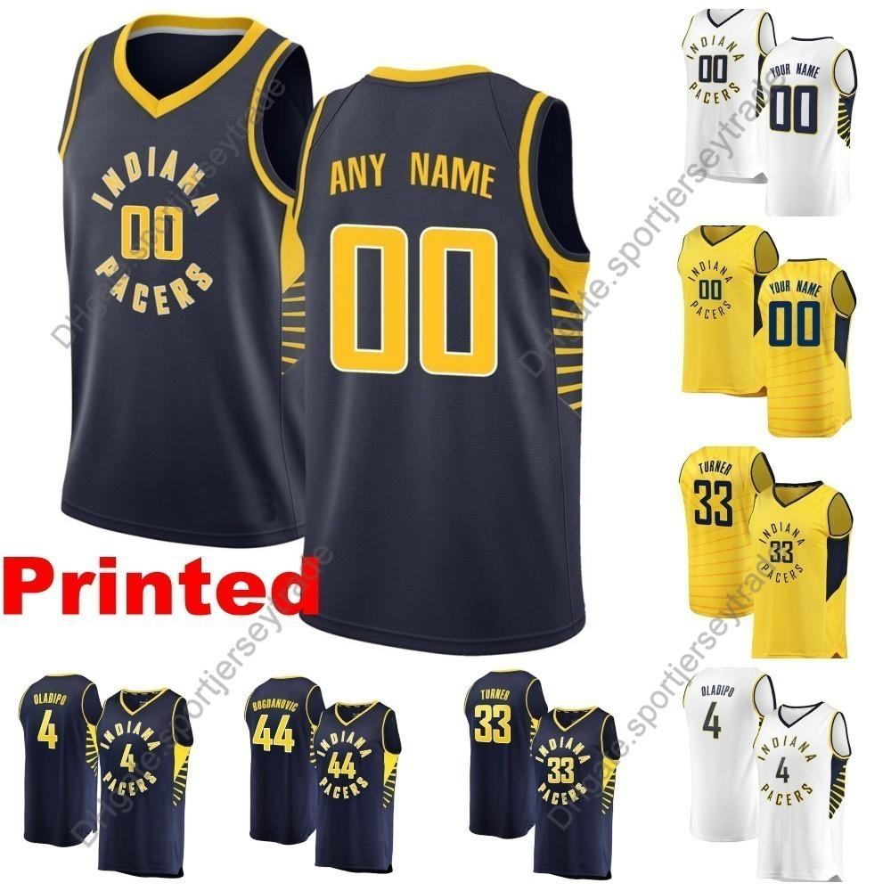 227ef001f 2019 2019 Printed Mens Indiana City Pacers Victor Oladipo 11 Sabonis 44  Bogdanovic 33 Turner 2 Collison 21 Young Cheap Edition Basketball Jersey  From ...