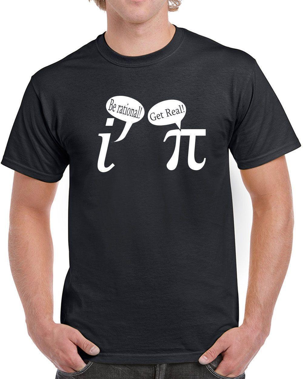 79b88fbd81b0 Be Rational Get Real Mens T Shirt Funny Math Geek NerdFunny Unisex Casual  Top With T Shirt T Shirts Shopping From Dragontee, $12.96  DHgate.Com