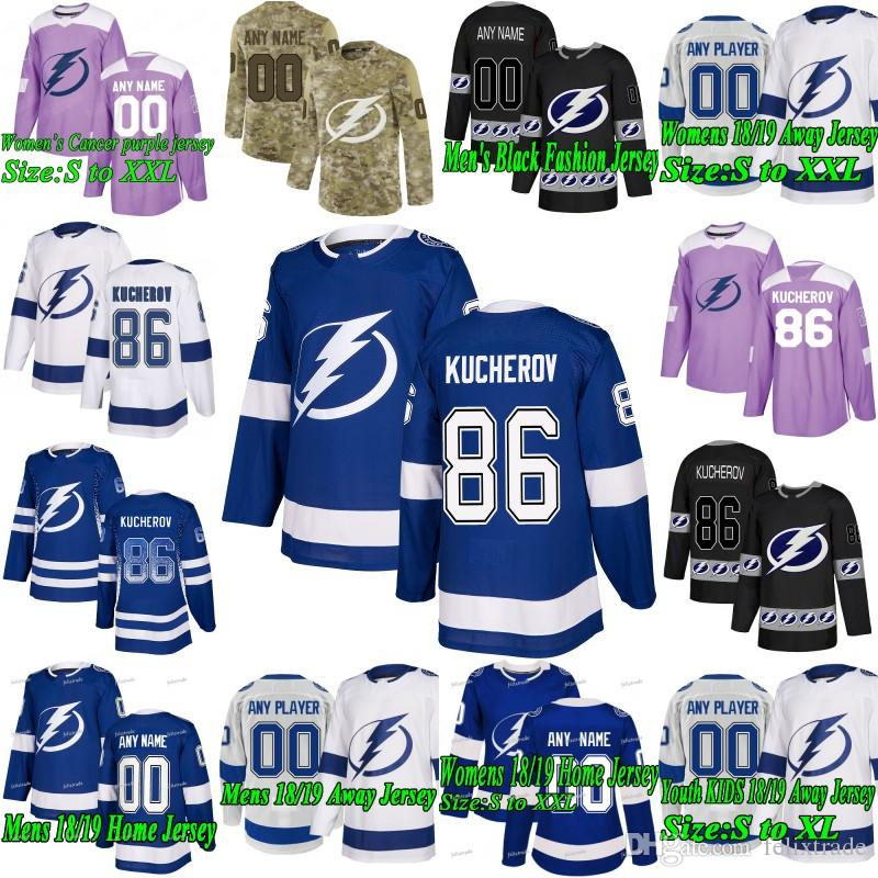 2019 Nikita Kucherov Tampa Bay Lightning Brayden Point Steven Stamkos Tyler  Johnson Yanni Gourde J.T. Miller Ryan McDonagh Victor Hedman Jersey From ... 87377a44e
