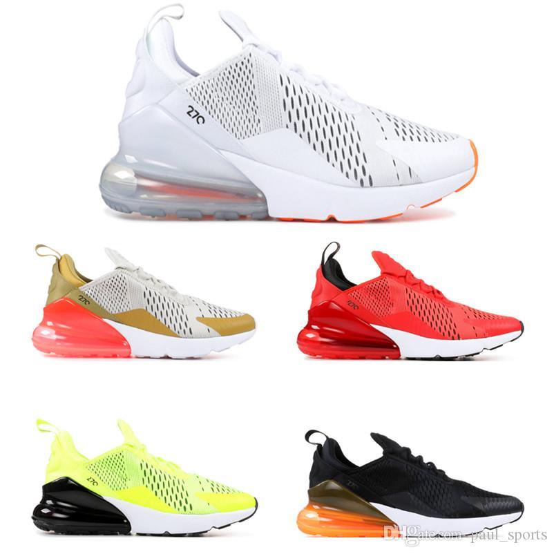 2018 venta caliente 270 universidad blanca Habanero zapatillas rojas para la calidad superior Chaussures 270s hombres mujeres zapatillas de deporte
