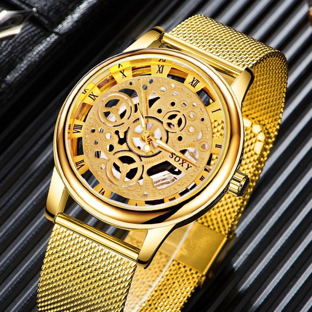 23aebf682cb8 Compre Reloj Hombre 2018 Reloj De Moda De Plata Dorado De Lujo De Acero  Inoxidable Relojes Hombres Mujeres Reloj De Cuarzo Reloj Retro Montre Homme  A  38.74 ...