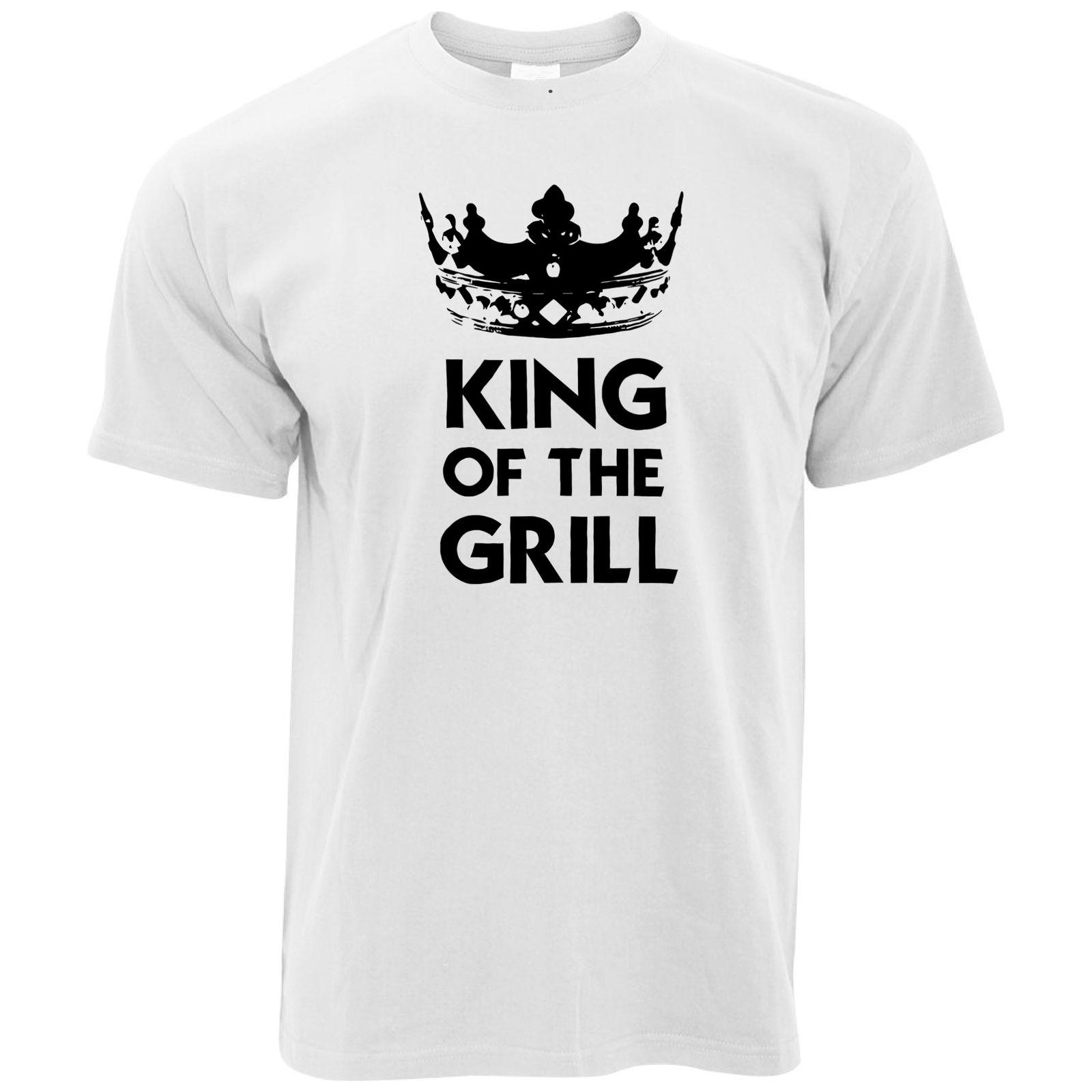 e57208e5 Novelty Cooking T Shirt King Of The Grill Slogan Chef Joke BBQ Crazy Tee  Shirts Novelty T Shirt From Oldshop77, $11.48| DHgate.Com