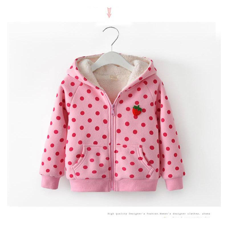 641b0e60d2ce3 Good Quality Baby Girls Winter Warm Thicken Outerwear Jacket Coats Children Polka  Dot Hoodies Coat Toddler Girls Winter Clothing Winter Jackets For Kids On  ...