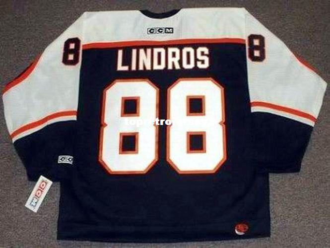 9a5969e75fd 2019 Wholesale Mens ERIC LINDROS Philadelphia Flyers 1998 CCM Cheap Retro  Hockey Jersey From Topretrojersey